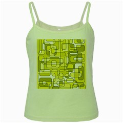 Yellow Decorative Abstraction Green Spaghetti Tank by Valentinaart