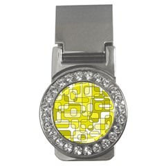 Yellow Decorative Abstraction Money Clips (cz)  by Valentinaart