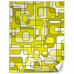 Yellow Decorative Abstraction Canvas 12  X 16   by Valentinaart