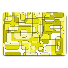 Yellow Decorative Abstraction Large Doormat  by Valentinaart