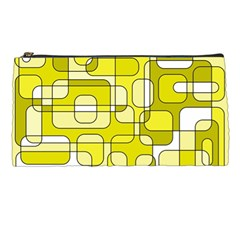 Yellow Decorative Abstraction Pencil Cases by Valentinaart