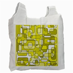 Yellow Decorative Abstraction Recycle Bag (two Side)  by Valentinaart