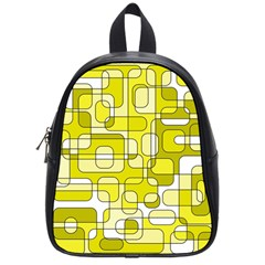 Yellow Decorative Abstraction School Bags (small)  by Valentinaart