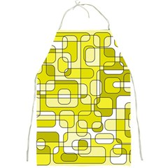 Yellow Decorative Abstraction Full Print Aprons by Valentinaart