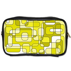 Yellow Decorative Abstraction Toiletries Bags by Valentinaart