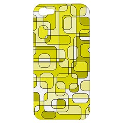 Yellow Decorative Abstraction Apple Iphone 5 Hardshell Case by Valentinaart