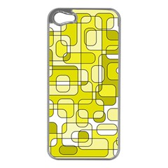 Yellow Decorative Abstraction Apple Iphone 5 Case (silver) by Valentinaart
