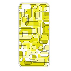 Yellow Decorative Abstraction Apple Iphone 5 Seamless Case (white) by Valentinaart