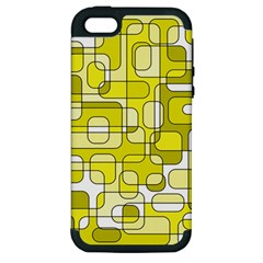 Yellow Decorative Abstraction Apple Iphone 5 Hardshell Case (pc+silicone) by Valentinaart