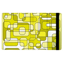 Yellow Decorative Abstraction Apple Ipad 3/4 Flip Case by Valentinaart