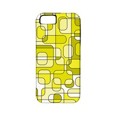 Yellow Decorative Abstraction Apple Iphone 5 Classic Hardshell Case (pc+silicone) by Valentinaart