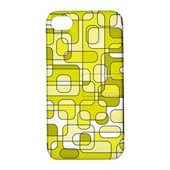 Yellow Decorative Abstraction Apple Iphone 4/4s Hardshell Case With Stand by Valentinaart