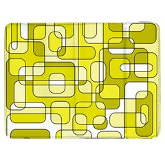 Yellow Decorative Abstraction Samsung Galaxy Tab 7  P1000 Flip Case by Valentinaart