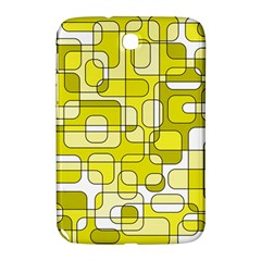 Yellow Decorative Abstraction Samsung Galaxy Note 8 0 N5100 Hardshell Case  by Valentinaart
