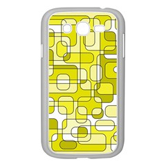 Yellow Decorative Abstraction Samsung Galaxy Grand Duos I9082 Case (white) by Valentinaart