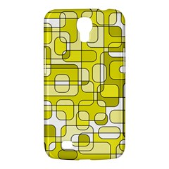 Yellow Decorative Abstraction Samsung Galaxy Mega 6 3  I9200 Hardshell Case by Valentinaart