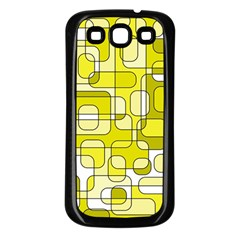 Yellow Decorative Abstraction Samsung Galaxy S3 Back Case (black) by Valentinaart