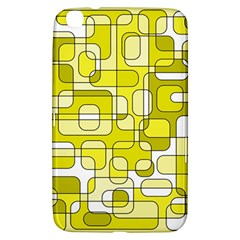 Yellow Decorative Abstraction Samsung Galaxy Tab 3 (8 ) T3100 Hardshell Case  by Valentinaart