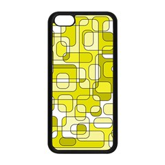 Yellow Decorative Abstraction Apple Iphone 5c Seamless Case (black) by Valentinaart