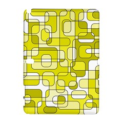 Yellow Decorative Abstraction Samsung Galaxy Note 10 1 (p600) Hardshell Case by Valentinaart