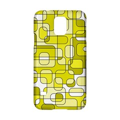 Yellow Decorative Abstraction Samsung Galaxy S5 Hardshell Case  by Valentinaart