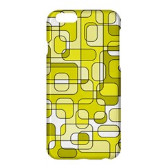 Yellow Decorative Abstraction Apple Iphone 6 Plus/6s Plus Hardshell Case by Valentinaart