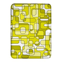 Yellow Decorative Abstraction Samsung Galaxy Tab 4 (10 1 ) Hardshell Case  by Valentinaart