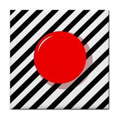 Red Ball Tile Coasters by Valentinaart