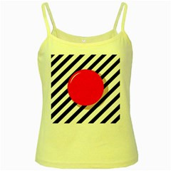 Red Ball Yellow Spaghetti Tank by Valentinaart