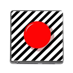 Red Ball Memory Card Reader (square) by Valentinaart