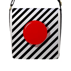Red Ball Flap Messenger Bag (l)  by Valentinaart
