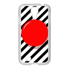 Red Ball Samsung Galaxy S4 I9500/ I9505 Case (white) by Valentinaart