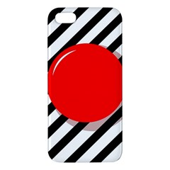 Red Ball Iphone 5s/ Se Premium Hardshell Case by Valentinaart