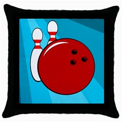 Bowling  Throw Pillow Case (black)