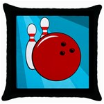 Bowling  Throw Pillow Case (Black) Front