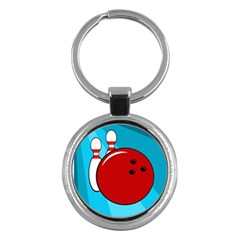 Bowling  Key Chains (round)  by Valentinaart