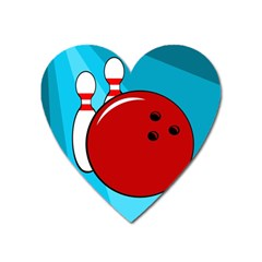 Bowling  Heart Magnet by Valentinaart