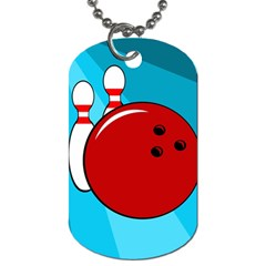 Bowling  Dog Tag (two Sides) by Valentinaart