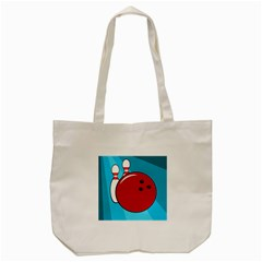Bowling  Tote Bag (cream) by Valentinaart