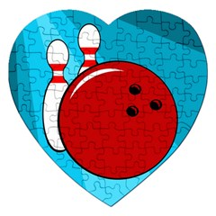 Bowling  Jigsaw Puzzle (heart) by Valentinaart