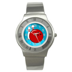 Bowling  Stainless Steel Watch by Valentinaart