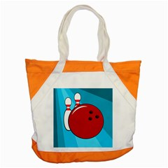 Bowling  Accent Tote Bag by Valentinaart