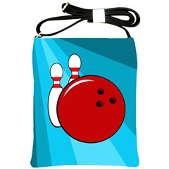 Bowling  Shoulder Sling Bags by Valentinaart