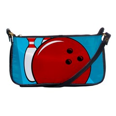 Bowling  Shoulder Clutch Bags by Valentinaart