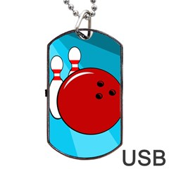Bowling  Dog Tag Usb Flash (one Side) by Valentinaart