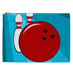 Bowling  Cosmetic Bag (xxl)  by Valentinaart