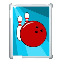 Bowling  Apple Ipad 3/4 Case (white) by Valentinaart