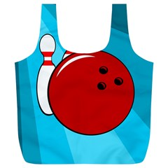 Bowling  Full Print Recycle Bags (l)  by Valentinaart