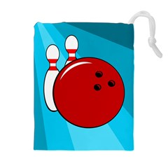 Bowling  Drawstring Pouches (extra Large) by Valentinaart