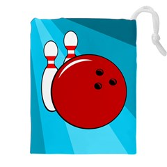 Bowling  Drawstring Pouches (xxl) by Valentinaart